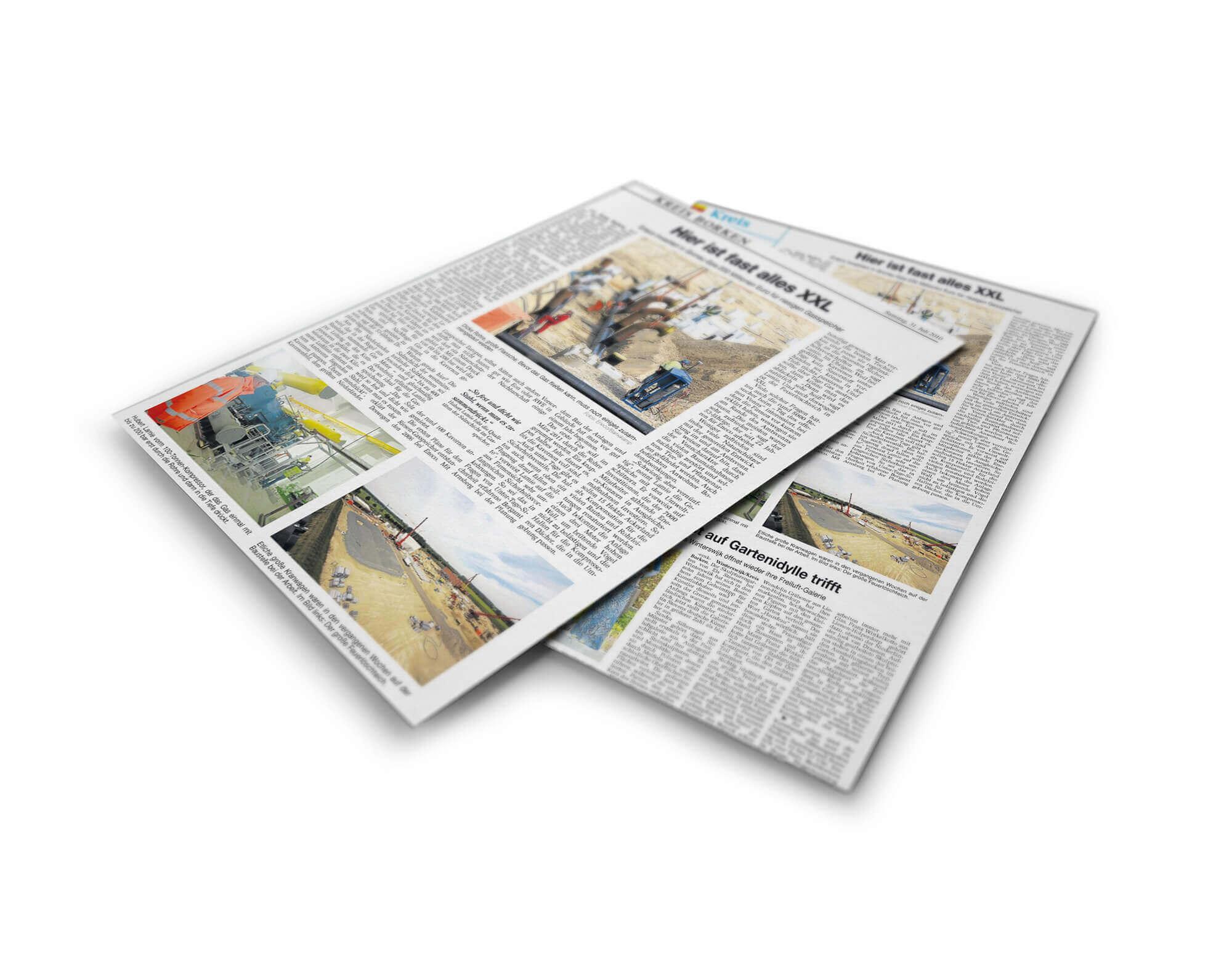 Pressearbeit für Eneco Gasspeicher