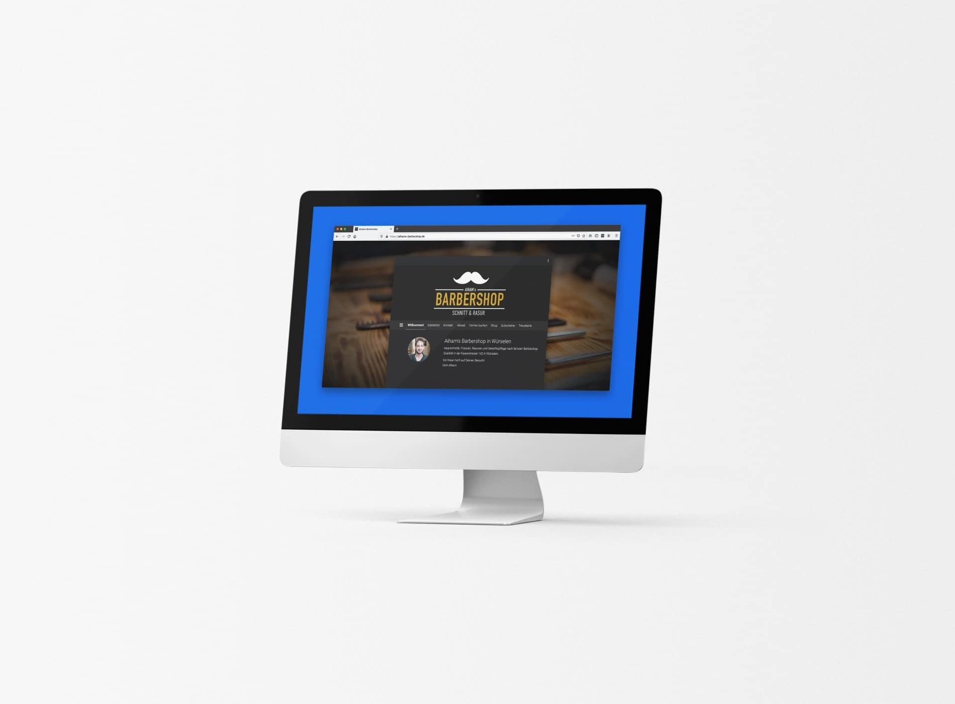 aiham barbershop webdesign