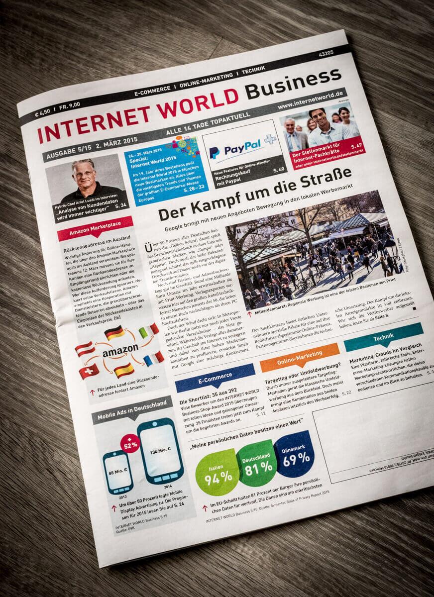 Interview zum lokalen Marketing in der Internet World Business